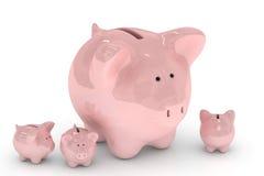 La Banca Piggy sopra bianco Immagine Stock Libera da Diritti