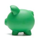 La Banca Piggy su bianco Immagini Stock