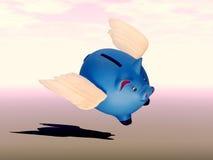 La Banca Piggy volante Fotografia Stock
