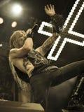 La banda de heavy metal negra pesada de Kampfar vive en el concierto 2016 Fotografía de archivo