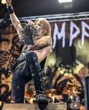 La banda de heavy metal negra pesada de Kampfar vive en el concierto 2016 Imagen de archivo