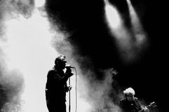 La banda de Jesús y de Mary Chain se realiza en el festival 2013 del sonido de Heineken Primavera Fotos de archivo libres de regalías
