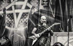 La banda de metales pesados del ántrax vive en el concierto 2016 Foto de archivo
