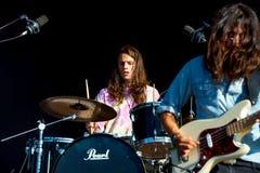 La banda delle ossa dello zefiro esegue di concerto al festival FIB Immagine Stock Libera da Diritti