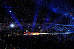 La banda di Coldplay esegue allo stadio di Vicente Calderon Immagine Stock Libera da Diritti