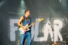 La banda di Fidlar esegue di concerto al festival FIB Fotografia Stock Libera da Diritti