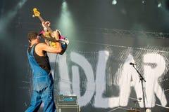La banda di Fidlar esegue di concerto al festival FIB Immagini Stock
