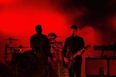 La banda di Interpol esegue di concerto al festival di musica di Dcode Fotografia Stock