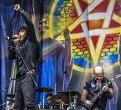 La banda di metalli pesanti dell'antrace vive di concerto 2016 Immagine Stock Libera da Diritti