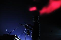 La banda di Sigur ROS esegue a Barcellona immagine stock
