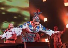 La banda di Verka Serduchka esegue al festival di fine settimana dell'atlante Kiev, Ucraina Fotografie Stock