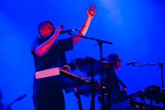 La banda moderna del alma de la selva se realiza en concierto en el festival de música de Dcode Fotografía de archivo libre de regalías