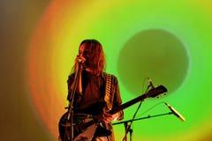 La banda psichedelica dell'impala addomesticata esegue di concerto al festival 2016 del suono di Primavera Fotografia Stock Libera da Diritti