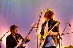 La banda psichedelica dell'impala addomesticata esegue di concerto al festival 2016 del suono di Primavera Fotografia Stock