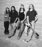 La banda rock fotografia stock libera da diritti