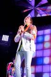 La banda rock indipendente di Arcade Fire esegue al suono 2014 di Heineken Primavera Immagini Stock Libere da Diritti