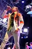 La banda rock indipendente di Arcade Fire esegue al suono 2014 di Heineken Primavera Fotografia Stock