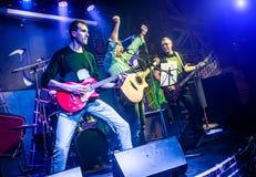 La banda se realiza en etapa Foto de archivo