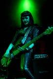 La bande anglaise de hard rock meurent ainsi liquide sous tension sur l'étape Photo stock