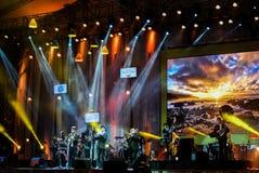 La bande de Jazz Minions exécutent dans le jazz dans la mémoire chez Bangsaen Images libres de droits