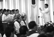 La bande de l'église Photo stock
