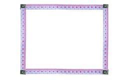 La bande de mesure s'est chargée d'être rectangulaire avec le copyspace qui yo Photos stock