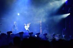 La bande de Parov Stelar exécute un concert vivant sur l'étape Photo libre de droits