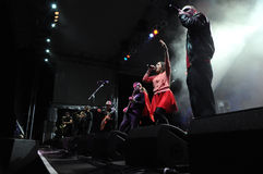 La bande de Rotfront de Berlin exécute un concert vivant Images stock