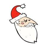 la bande dessinée comique Santa font face Image libre de droits