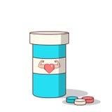 La bande dessinée d'isolement viagra dope pour rendre l'amour plus fort illustration de vecteur