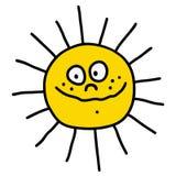 La bande dessinée d'un soleil drôle Image stock