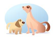 La bande dessinée de caractère de chien a dénommé l'illustration de vecteur Photo stock
