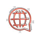 La bande dessinée de vecteur choisissent ou changent l'icône de langue dans le style comique Gl illustration libre de droits