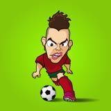 La bande dessinée inconditionnelle du football de contrôle Photos stock