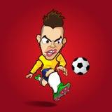 La bande dessinée inconditionnelle du football de tir Image libre de droits