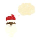 la bande dessinée Santa sinistre font face avec la bulle de pensée Photo stock
