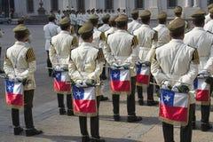 La bande militaire Santiago font le Chili photo stock