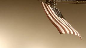 La bandera americana en el cielo Foto de archivo libre de regalías