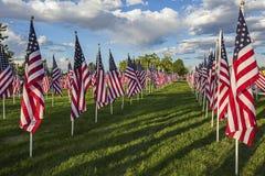 Exhibición de la bandera americana Foto de archivo