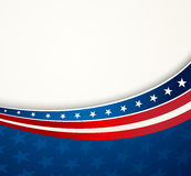 La bandera americana, Vector el fondo patriótico Imagen de archivo libre de regalías