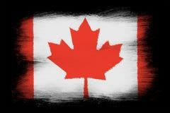 La bandera canadiense ilustración del vector