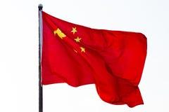 La bandera china fotografía de archivo