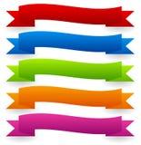La bandera colorida del vector fijó - versión ondulada, que agitaba libre illustration