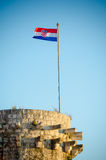 La bandera croata Fotografía de archivo