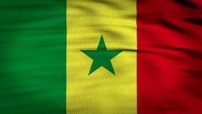 La bandera 3d de Senegal rinde 4k stock de ilustración