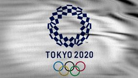 La bandera 3d de Tokio 2020 animó libre illustration