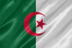 La bandera de Argelia fotos de archivo libres de regalías