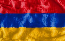 La bandera de Armenia Fotografía de archivo