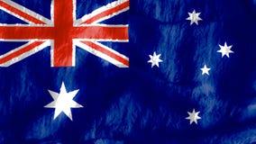 La bandera de Australia Foto de archivo libre de regalías