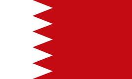 La bandera de Bahrein, colores oficiales y proporcióna correctamente Imagenes de archivo